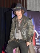 Johnny Depp Distressed Leather Jacket