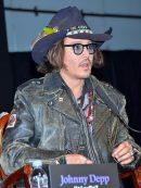 Johnny Depp Distressed Black Jacket