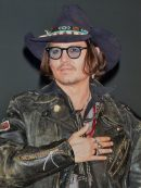 Johnny Depp Distressed Black Leather Jacket