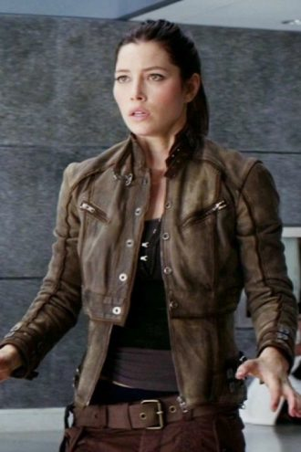 Jessica Biel Melina Total Recall Leather Jacket
