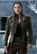 Elegant Jessica Biel Melina Total Recall Leather Jacket