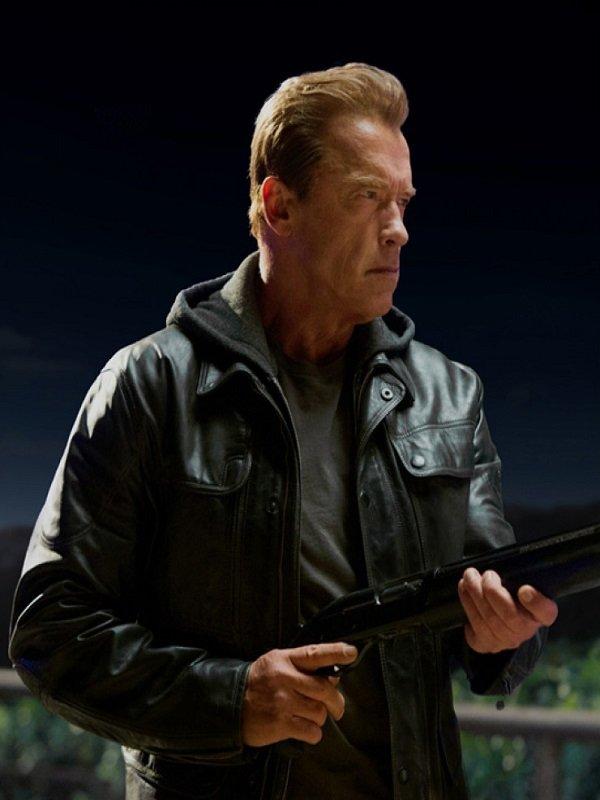 T800 Terminator Genisys Leather Jacket