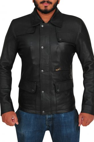 Arnold Schwarzenegger Terminator Genisys Black Leather Jacket