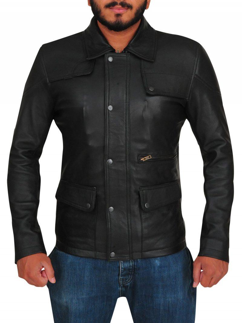 Arnold Schwarzenegger Terminator Genisys Black Leather Jacket