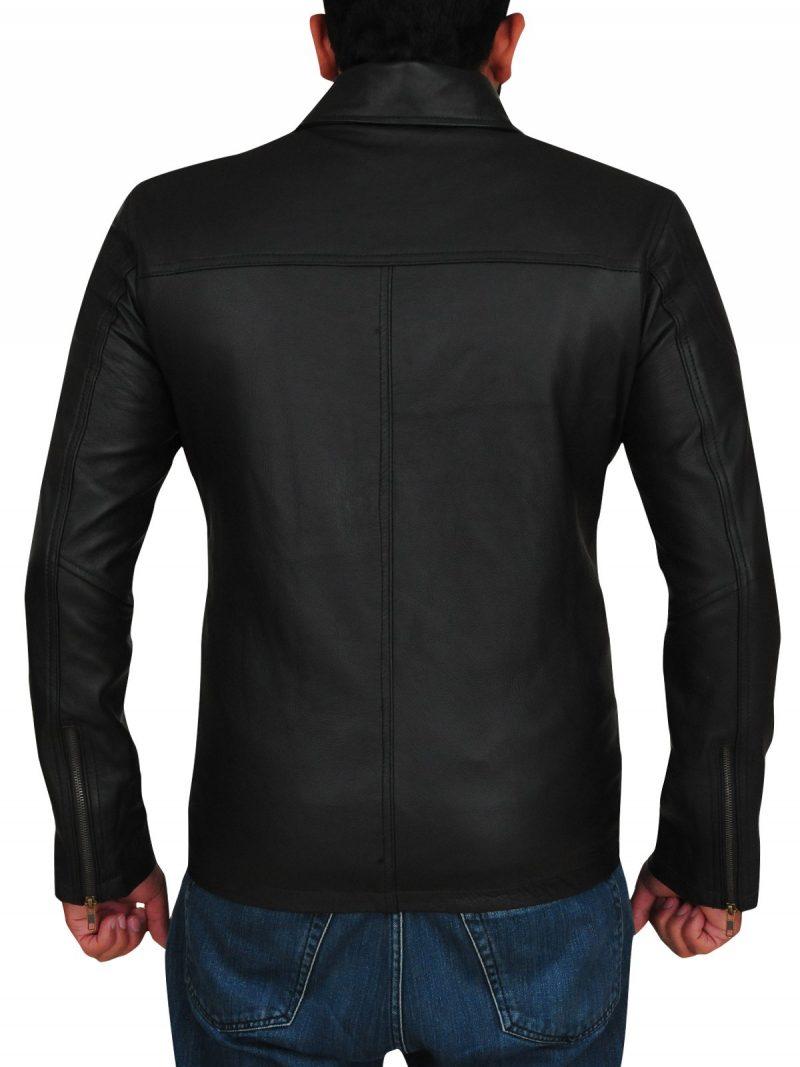 T800 Arnold Schwarzenegger Terminator Genisys Black Leather Jacket