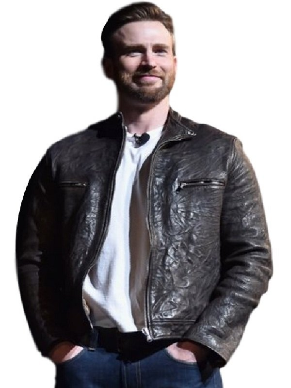 Captain America Chris Evans Brown Jacket