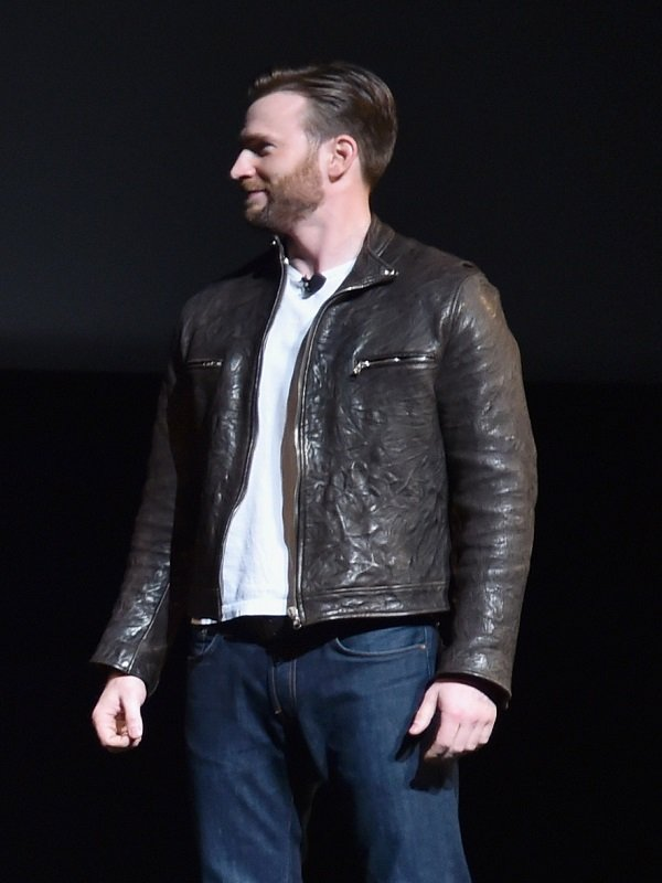 Chris Evans Captain America Brown Jacket