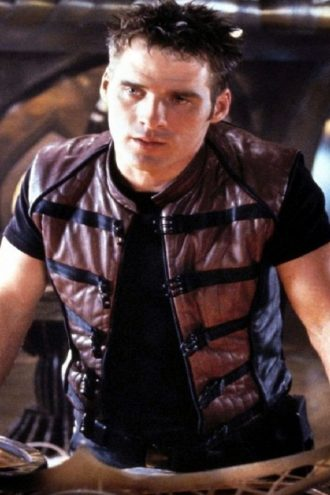 Ben Browder Farscape Brown Black Vest