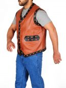 Michael Beck Warriors Swan Leather Vest