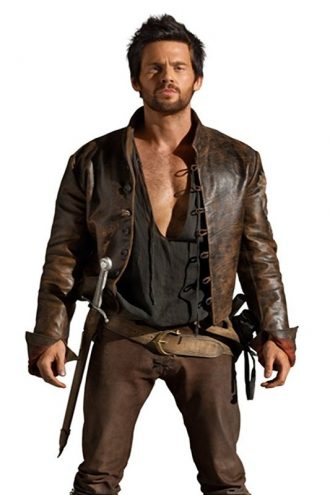 Da Vinci's Demons Tom Riley Distressed Leather Jacket