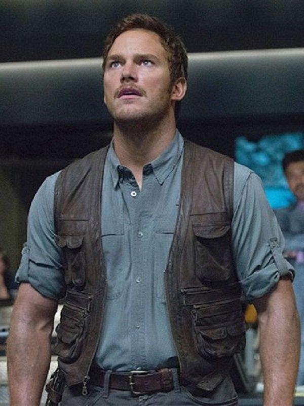 Jurassic World Owen Grady Biker Leather Vest