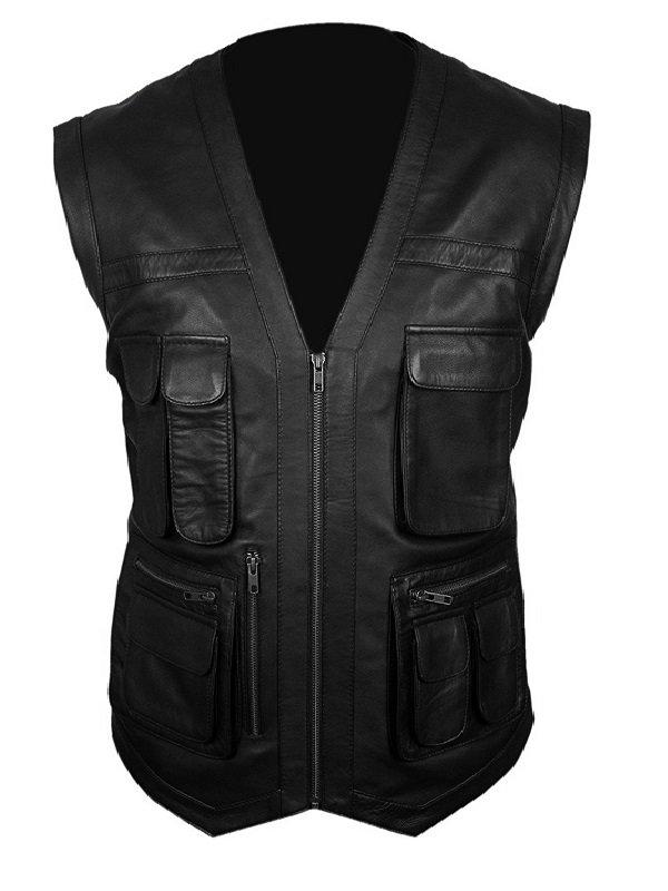 Chris Pratt Jurassic World Leather Vest