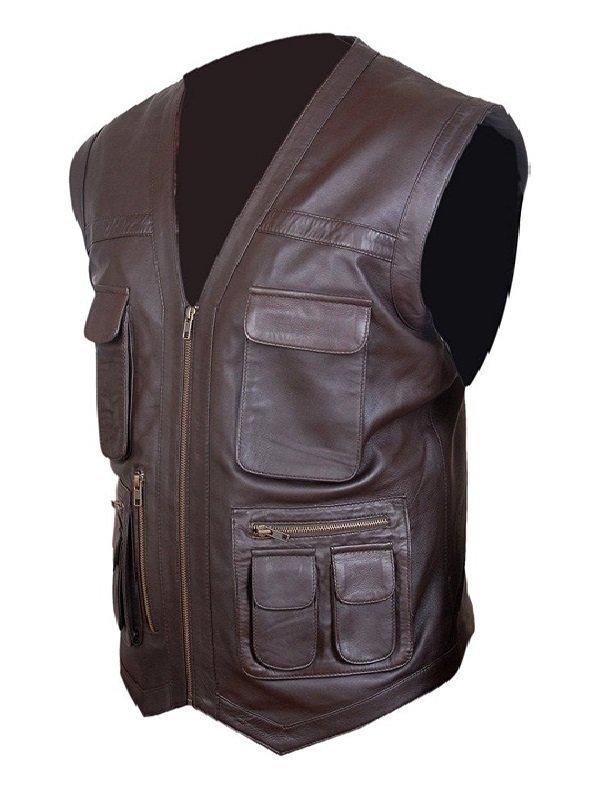 Owen Grady Jurassic World Biker Leather Vest