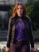 The Flash Plastique Black Leather Jacket