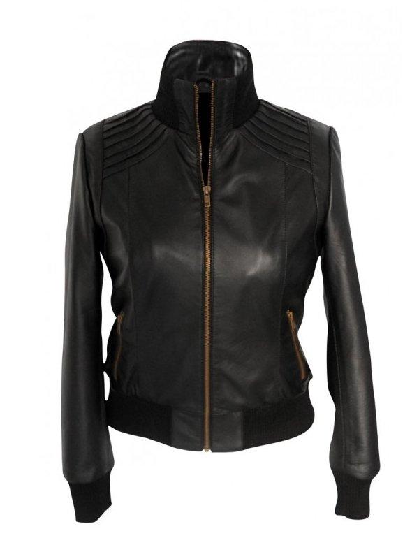 Plastique Black Leather Jacket