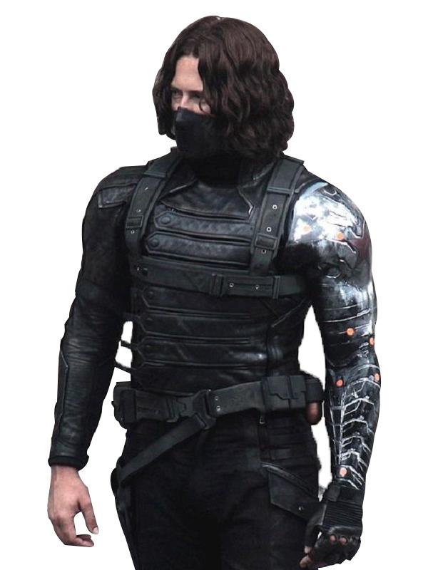 Bucky Barnes Winter Soldier Leather Jacket