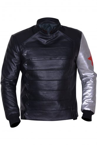 Bucky Barnes Winter Soldier Leather Jacket