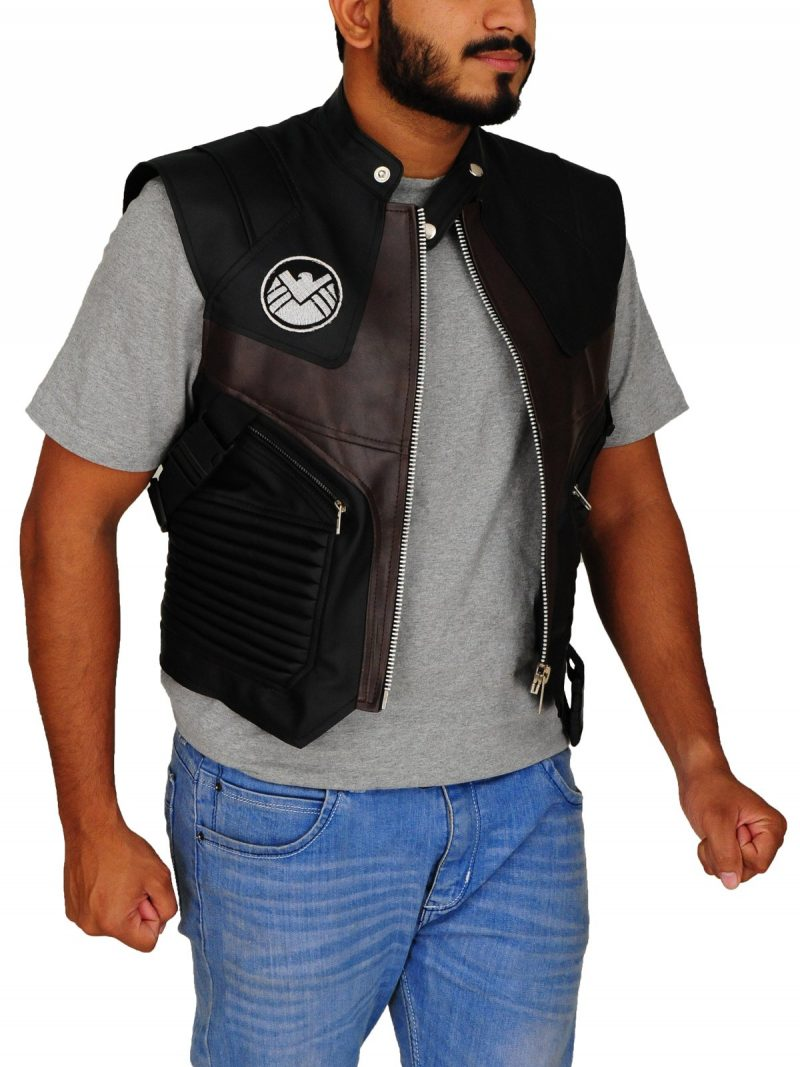 The Avengers Hawkeye Jeremy Renner Leather Vest |