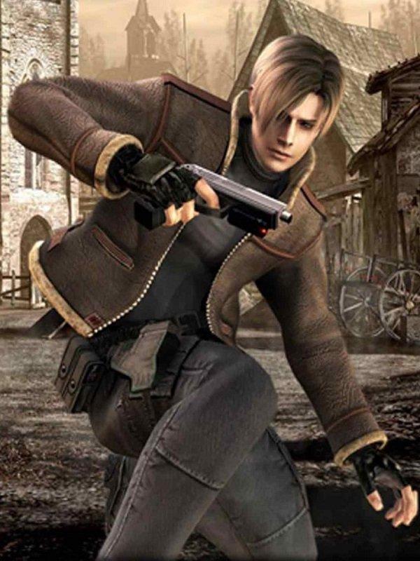 Resident Evil 4 Fur Jacket Top Celebs Jackets