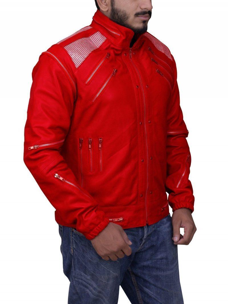 M.J Beat It Biker Leather Jacket
