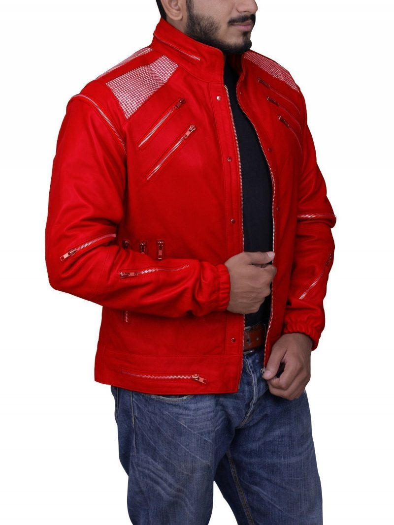 Beat It M.J Motorcycle Leather Jacket
