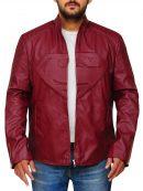Superman Smallville Maroon Leather Jacket