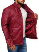 Superhero Superman Smallville Maroon Jacket