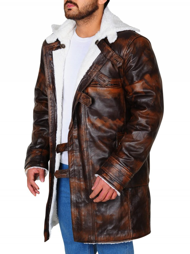Bane The Dark Knight Rises Distressed Leather Coat