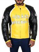 Biker Boyz Derek Luke Yellow Motorcycle Leather Jacket