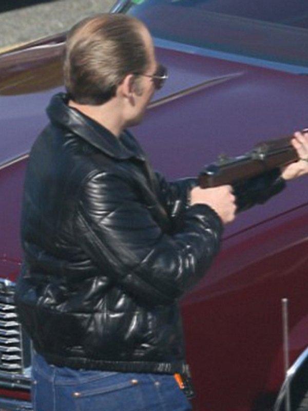 Johnny Depp Black Mass Leather Bomber Jacket