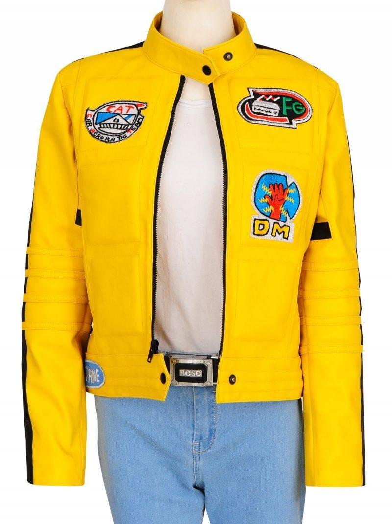 Uma Thurman Kill Bill Yellow Cosplay Jacket