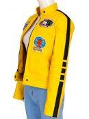 Uma Thurman Kill Bill Yellow Biker Jacket
