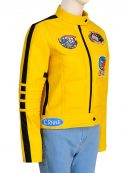 Kill Bill Uma Thurman Yellow Leather Jacket