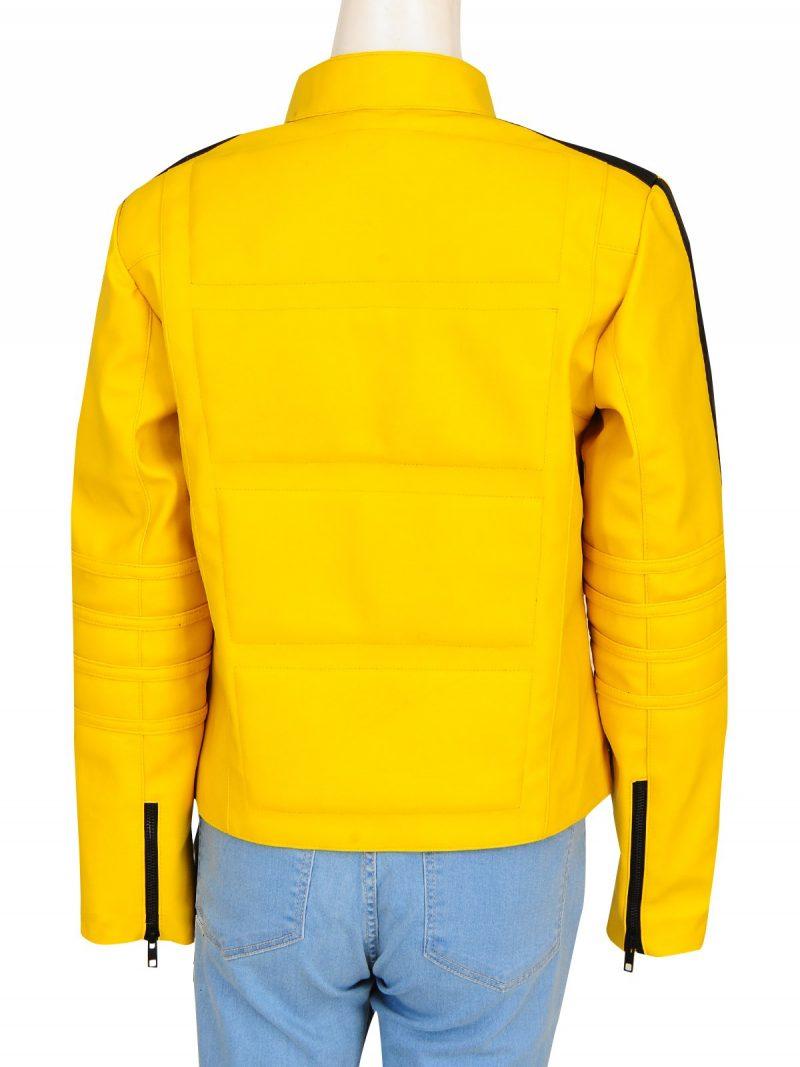 Kill Bill Uma Thurman Yellow Biker Jacket