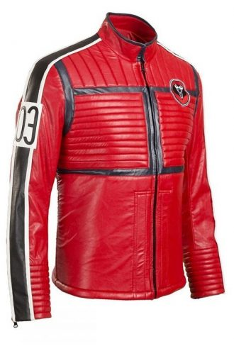 Mikey Way Red Jacket Costume Leather Jacket