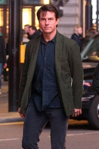 MI5 Rogue Nation Tom Cruise Green Coat