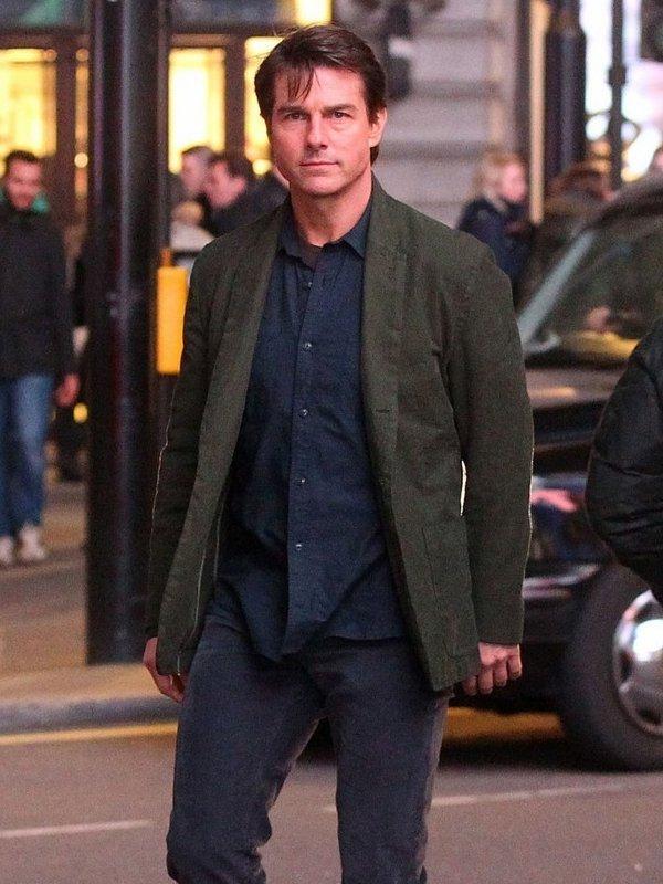 MI5 Rogue Nation Tom Cruise Green Coat