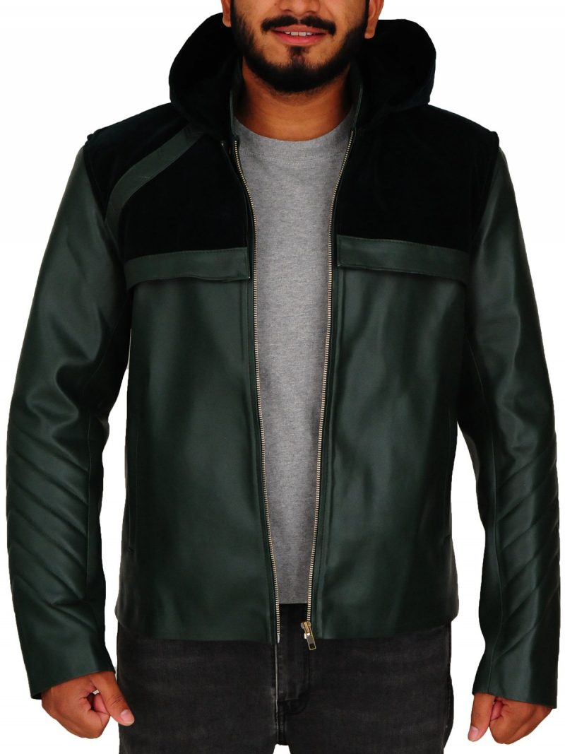 Arrow Oliver Queen Cosplay Hoodie Jacket