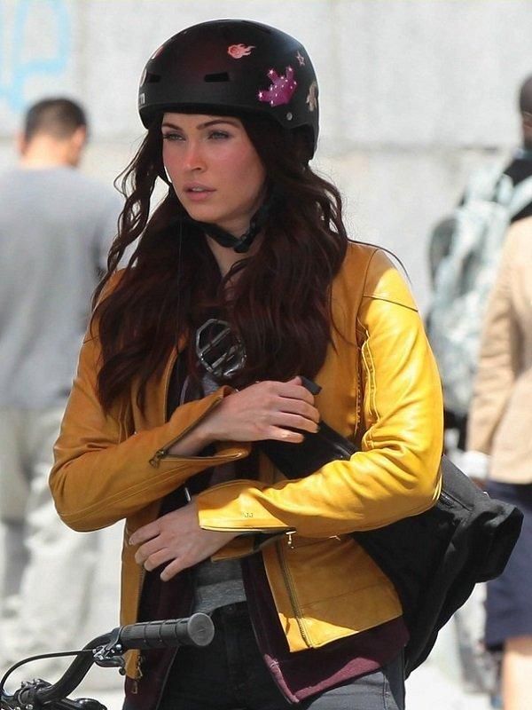 Megan Fox Stylish Yellow Jacket