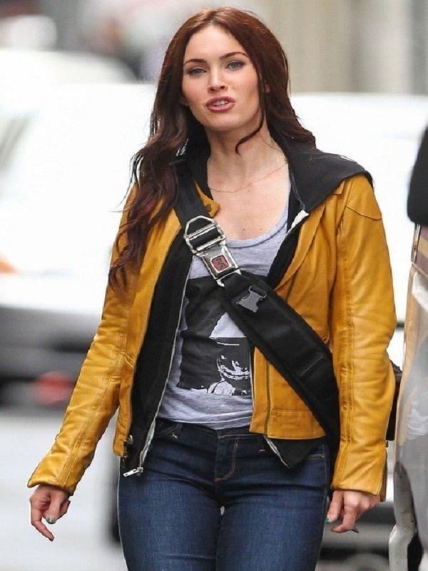 Megan Fox Teenage Mutant Ninja Turtles 2 Yellow Jacket
