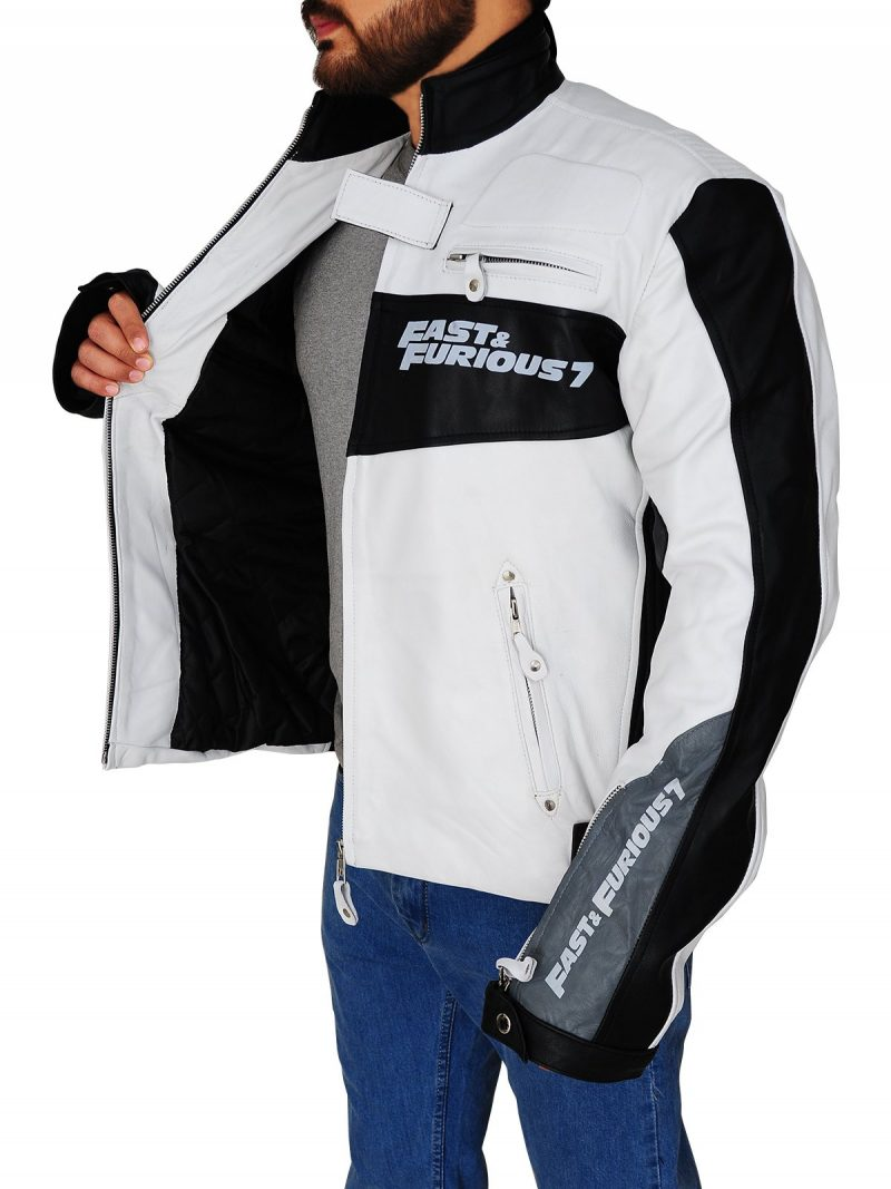 Movie Premiere White VIN Diesel Fast and Furious 7 Jacket