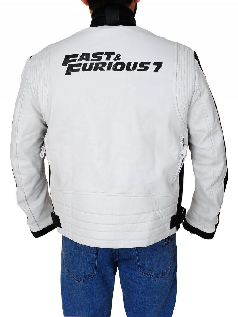 Movie Premiere Vin Diesel Furious 7 Biker Leather Jacket