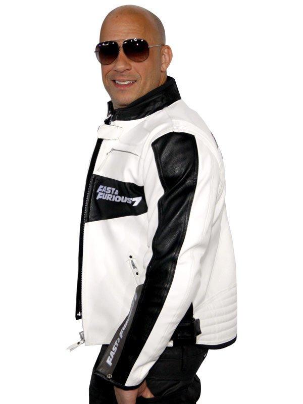 Movie Premiere Vin Diesel Furious 7 Moto Biker Leather Jacket