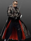 Blade Wesley Snipes Leather Trench Coat