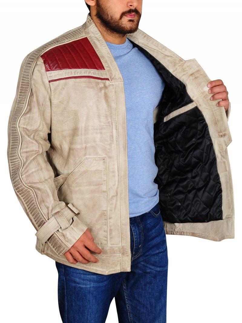Star Wars The Last Jedi Finn John Boyega Leather Jacket