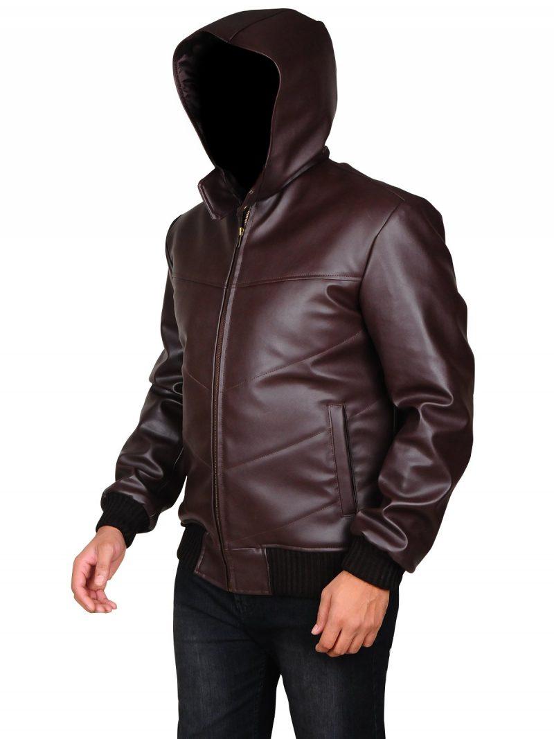 Lee Byung-Hun Devil Hood Brown Leather Jacket