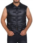 Jhonny Cage Stylish Black Vest