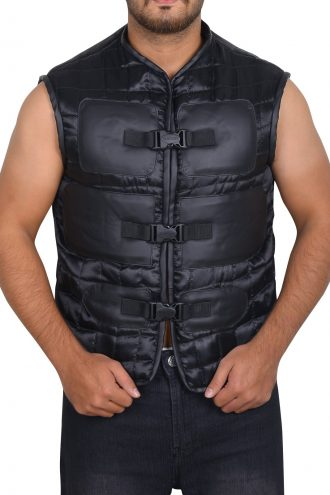 Jhonny Cage Stylish Black Vest
