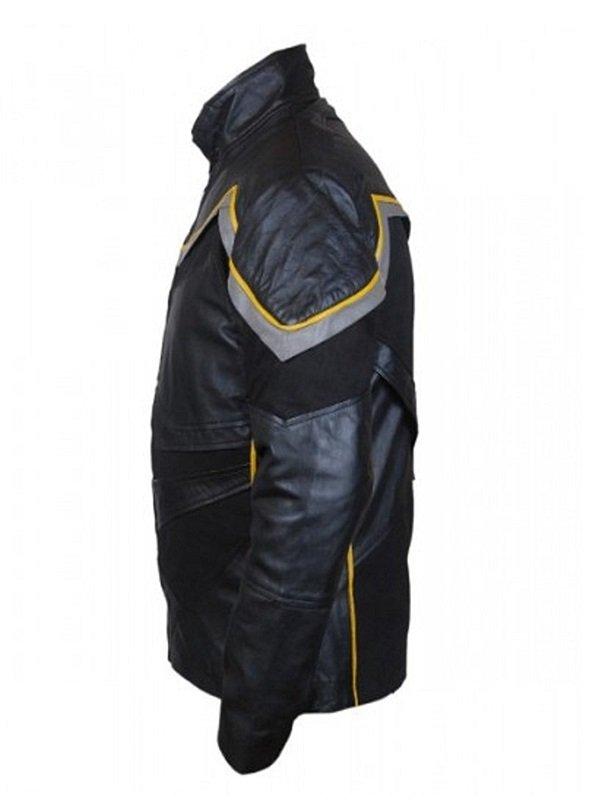 Superhero John Hancock Leather Jacket