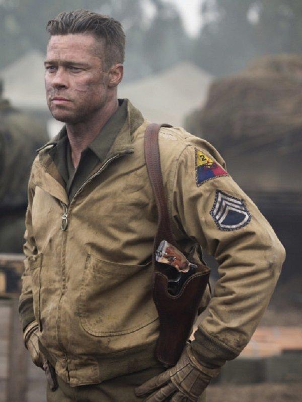 Fury Brad Pitt Cotton Jacket - Top Celebs Jackets